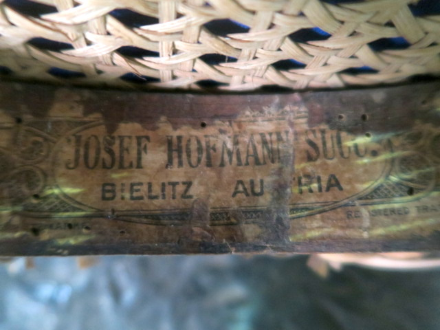 Hofmann Bentwood Chair label